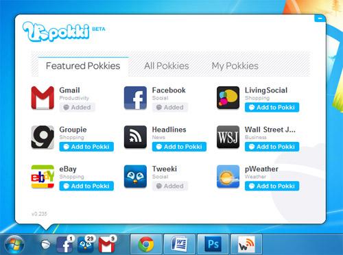 Pokkie 1 Pokki, la web en tu escritorio