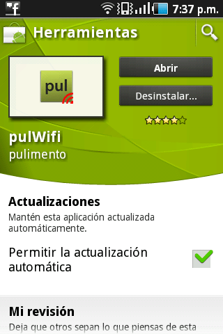 Obtener claves Wifi para Android - Pull-WIFI