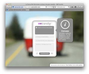 Envía archivos de hasta 2Gb por correo con WeTransfer