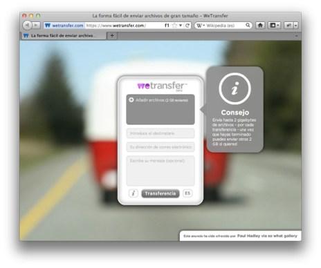 Envía archivos de hasta 2Gb por correo con WeTransfer - WeTransfer