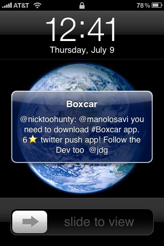 Notificaciones push en el iPhone de la mano de Boxcar - booxcar