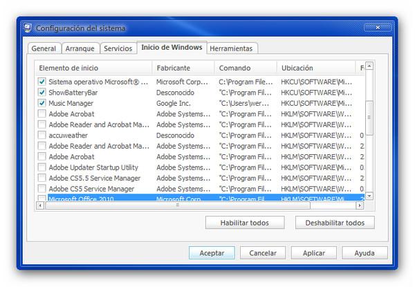 Deshabilitar el inicio de programas al arrancar Windows - desactivar-programas-inicio-windows
