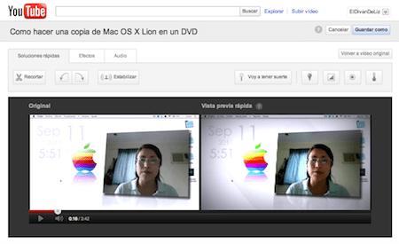 Editar videos en YouTube ya es posible - editar-videos-youtube