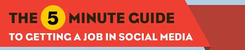 empleo de social media Como obtener un trabajo en Social Media en 5 minutos [Infografía]