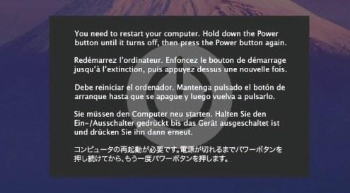 fake kernel panic Corregir Cuelgues de MacBook Pro y Pantallas Negras de la Muerte en OS X Lion