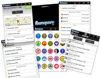 Foursquare, la famosa red social de geolocalización - foursquare_collage