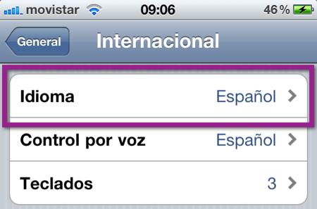 Como cambiar el idioma de dispositivo iOS (iPhone, iPod y iPad) - idioma-default