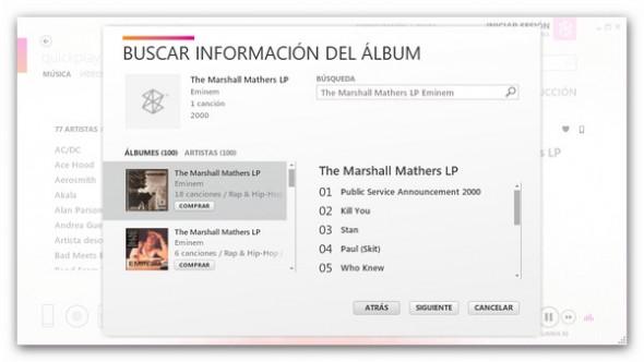 Zune Software, el genial y desconocido reproductor de música - informacion-album-zune-590x332