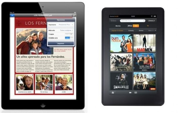 ¿Comprarías un iPad o un Kindle Fire? - ipad-vs-kindle-fire-590x377