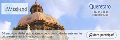 iWeekend Querétaro, tómate el fin de semana emprendiendo con tecnología - iweekend-queretaro-banner