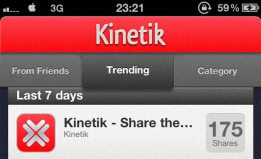 Kinetik, una app social para recomendar aplicaciones - kinetik_