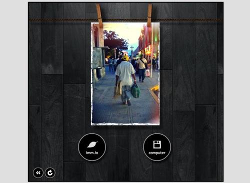 pixlr o matic foto terminada guardar Pixlr o matic, efectos para tus fotos, de antaño, retro, en linea y gratis [Reseña]