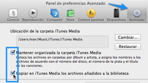 preferencias itunes Cómo mantener sin duplicados tus canciones y fotos de iTunes y iPhoto en tu computadora