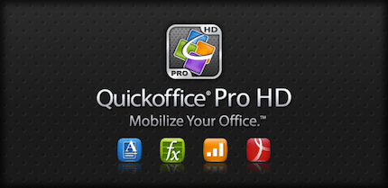QuickOffice HD para tablets Android - quickoffice