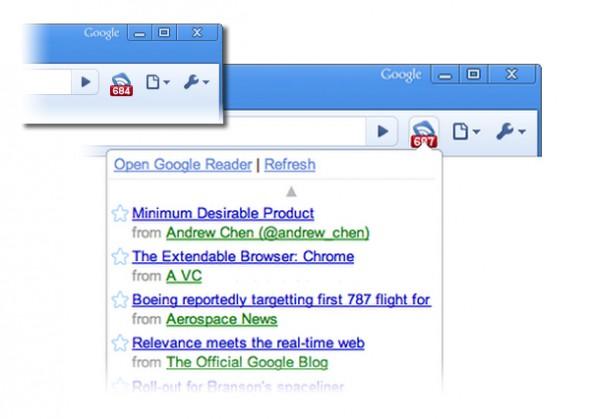 Notificador de Google Reader para Chrome - reader-chrome-590x419
