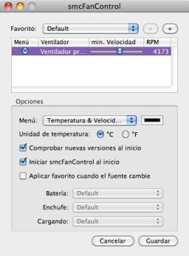 Mantén la temperatura de tu Mac con smcFanControl - smc-fan-control