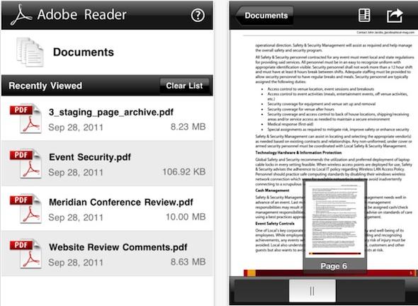 Adobe Reader para iOS disponible para descargar - Adobe-reader-ios