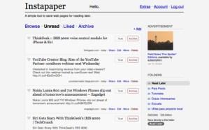 Instapaper, guarda páginas para leer después – web [Reseña]