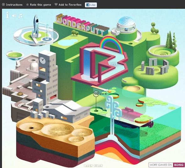 Juego de Mini Golf Online, WonderPutt - Juego-de-minigolf-online-wunderputt