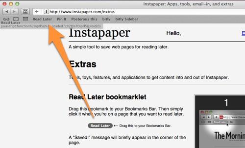 Instapaper, guarda páginas para leer después - web [Reseña] - Menubar-instapaper