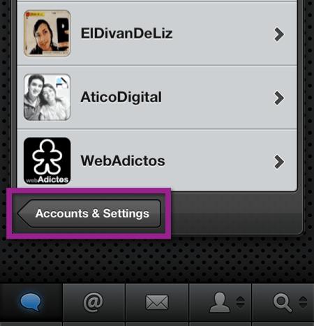 Como importar tus cuentas de Twitter desde Tweetbot en iOS 5 - ajustes-twitter