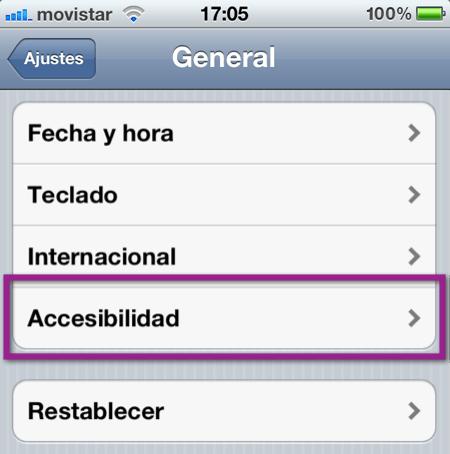 ajustes1 iOS 5: Como activar y crear las vibraciones personalizadas de tu iPhone