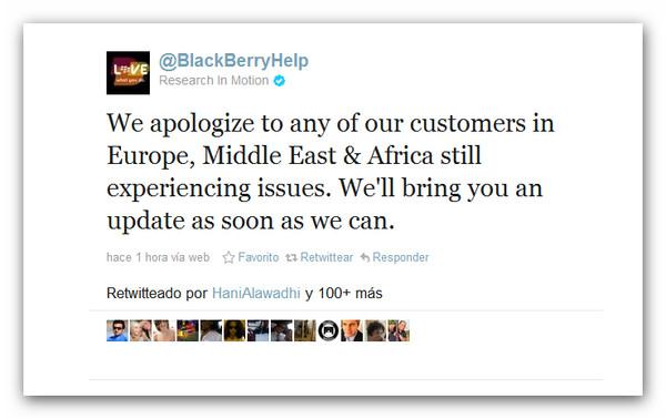 El servicio de Blackberry nuevamente caído, ahora en Europa, Medio Oriente y África - blackberry-servicio-caido