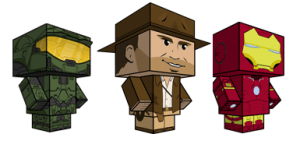 Muñecos recortables gratis en CubeeCraft