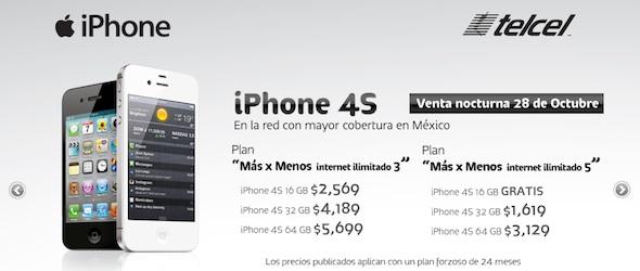 Precios del iPhone 4S en Telcel [Actualizado] - iphone-4s-telcel