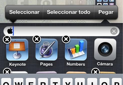 Añade el logo de Apple a tus carpetas de iOS - pegar-logo-apple