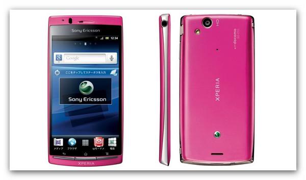 xperia arc pink 5 smartphones que toda mujer desearía tener