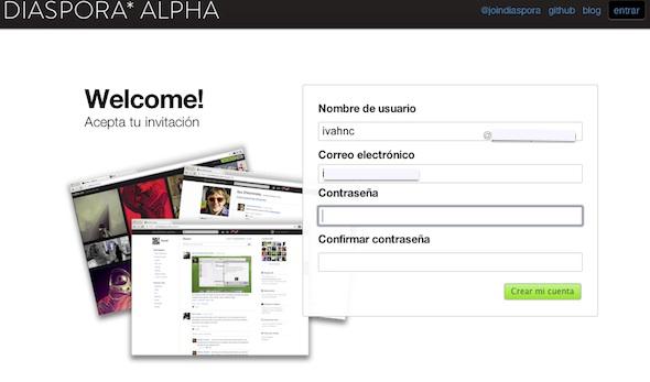 Diaspora Alpha, un primer vistazo a la red social libre - Diaspora-alpha