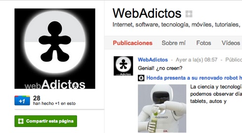 WebAdictos Google+ Cómo hacer una página en Google+