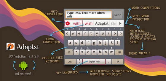 Mejora el teclado de tu Android con Adaptxt Beta (Gratis por tiempo limitado) - adaptxt-beta