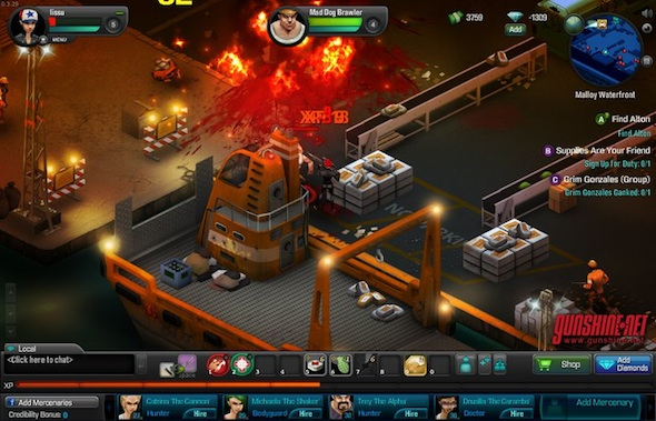 Gunshine.net, el primer juego RPG multijugador online en tiempo real de Facebook - gunshine-net1