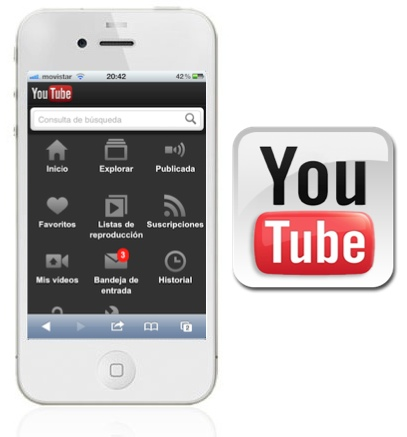 Un vistazo a la nueva versión móvil de YouTube para iOS - iphone-4-blanco1