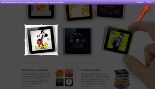 seleccionar reloj mickey mouse Agregar el reloj de Mickey Mouse del iPod Nano en tu Dashboard