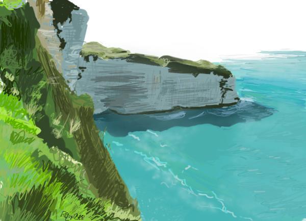 Speed Painting, en donde la velocidad y la libertad se vuelven arte - speed_painting_falaises_600