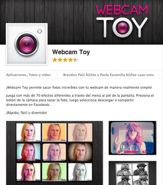 Webcam Toy, toma fotos y añade efectos desde tu Chrome - webcam-toy-facebook