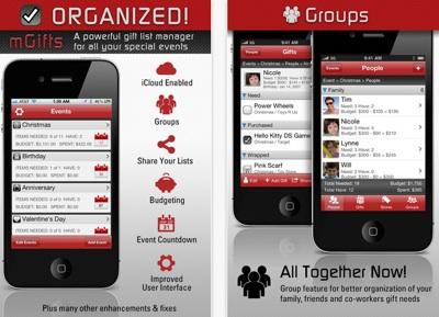 App Store mGifts Gift List Manager Aplicaciones útiles para sobrevivir esta navidad y año nuevo