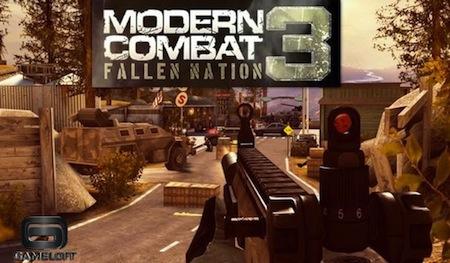 Modern Combat 3 Gameloft Los mejores juegos para iPhone que nos dejó este 2011