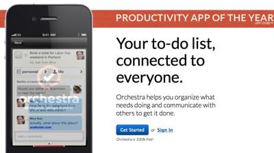 Orchestra Your to do list connected to everyone. Aplicaciones útiles para sobrevivir esta navidad y año nuevo