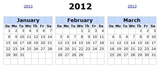 calendarlabs Calendarios 2012 para imprimir