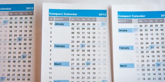 compact calendar Calendarios 2012 para imprimir