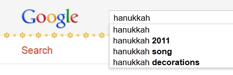 Curiosidad de Google al buscar la palabra Hanukkah - google-hanukkah