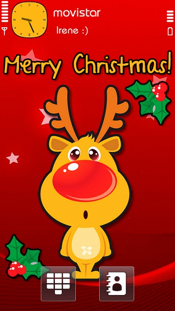 merry christmas theme by iree7 Excelentes temas de Navidad para Symbian (S40, S60v3, v5, ^3 Anna y Belle)