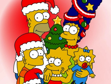 Como aprovechar al máximo tus dispositivos esta Navidad o Año Nuevo - navidad_simpsons