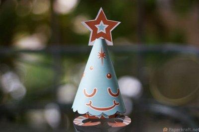 Colección con los mejores Paper Toys para Navidad - paper-toy-arbol