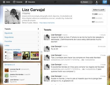 perfil nuevo twitter web1 Conoce a fondo la nueva interfaz de Twitter