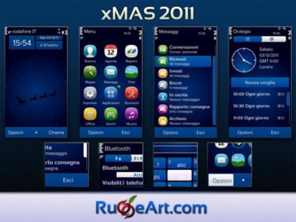 xmas 590x442 Excelentes temas de Navidad para Symbian (S40, S60v3, v5, ^3 Anna y Belle)